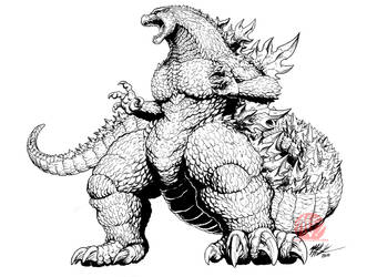 Godzilla IDW concept art - Frank Goji by KaijuSamurai