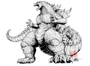 Godzilla IDW concept art - Frank Goji