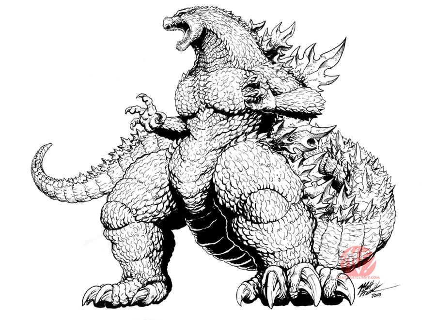 Keizer Ghidorah Drawing