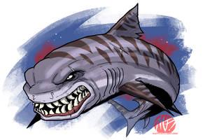 Shark Week 2012 - Tiger Shark by KaijuSamurai
