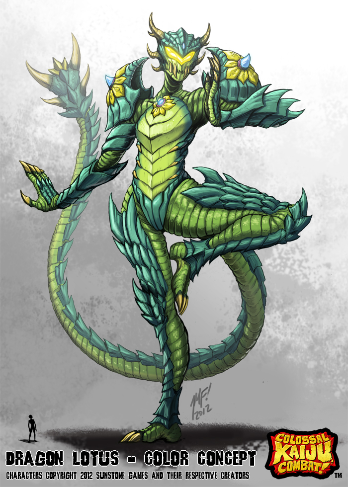 Kaiju Combat Deviantart: Dragon Lotus By KaijuSamurai On DeviantArt