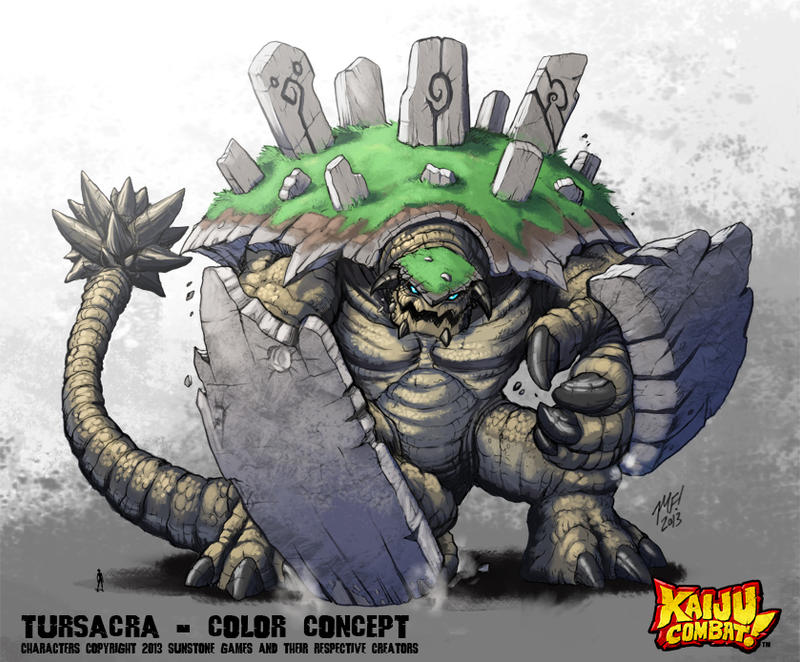 Kaiju Combat - Tursacra by KaijuSamurai