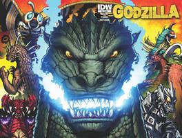 Godzilla Rulers of Earth cover 1 by KaijuSamurai