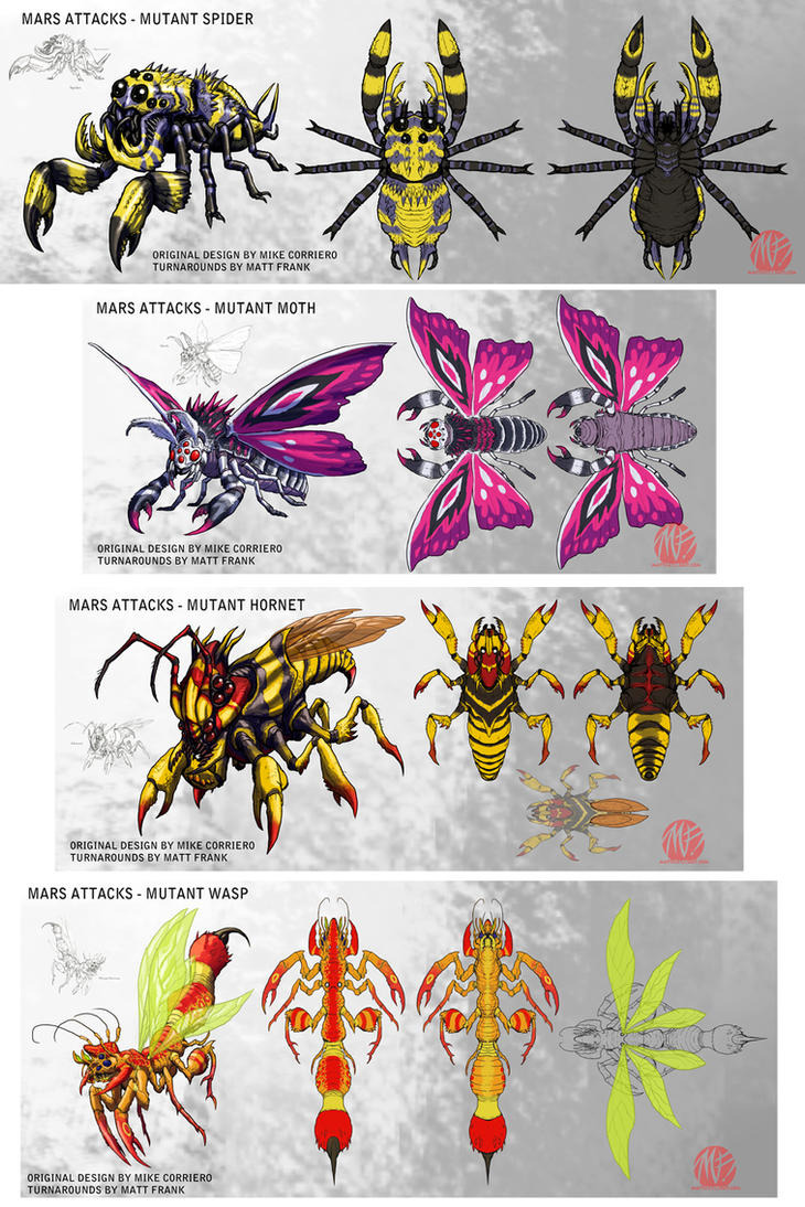 Mars Attacks Mutant Bug Concepts by KaijuSamurai