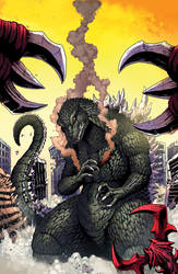 Godzilla Rulers of Earth issue 4 cover by KaijuSamurai