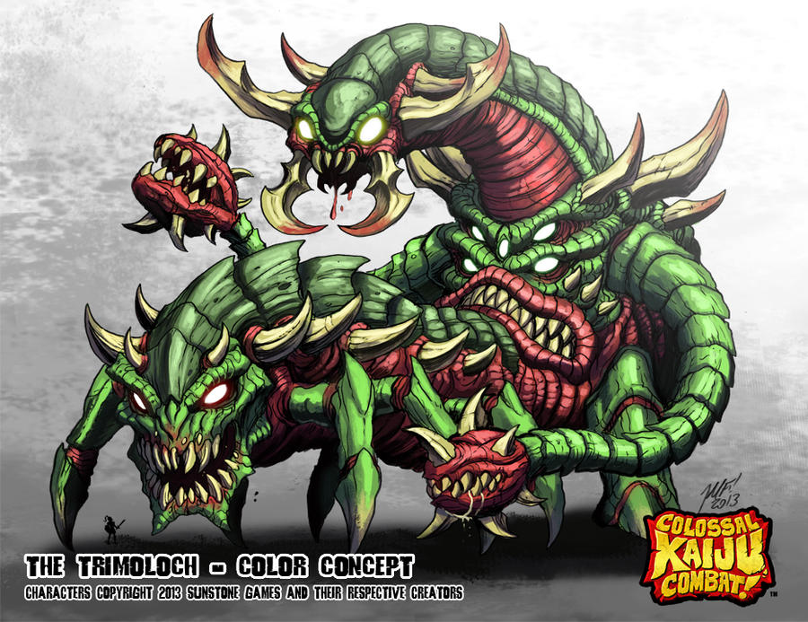 Colossal Kaiju Combat - The Tri'Moloch by KaijuSamurai