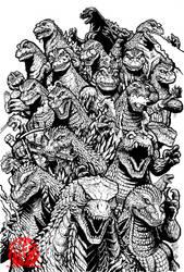 60 Years of Mayhem - line art by KaijuSamurai