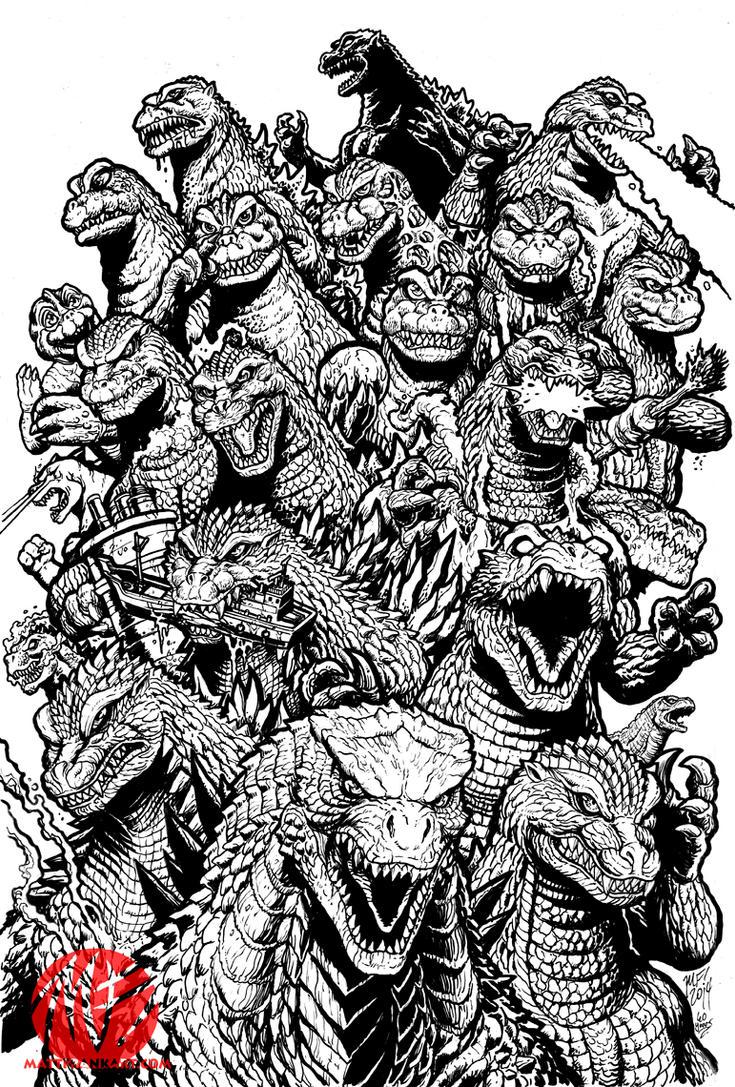 Line Art Year : Years of mayhem line art by kaijusamurai on deviantart