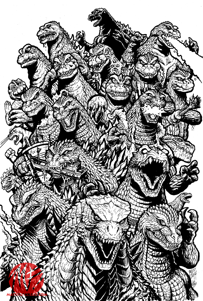 Line Art Year 5 : Years of mayhem line art by kaijusamurai on deviantart