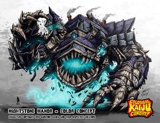Colossal Kaiju Combat - Nightstone Manor by KaijuSamurai