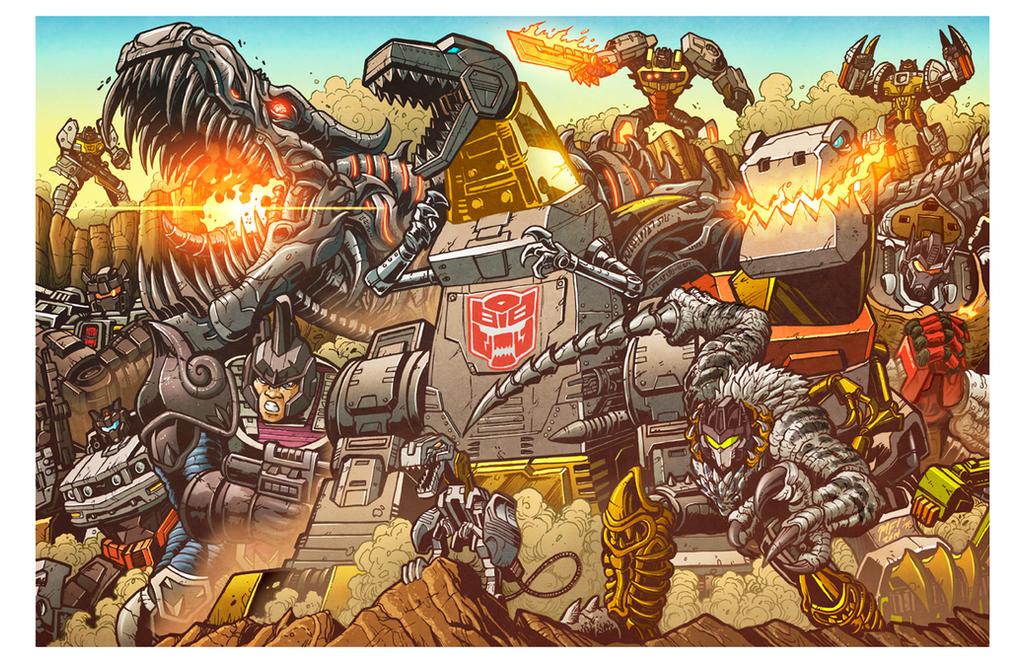 All Hail Grimlock - Botcon 2014 print by KaijuSamurai