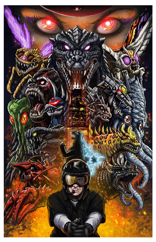 Godzilla: Battle Royale poster by KaijuSamurai