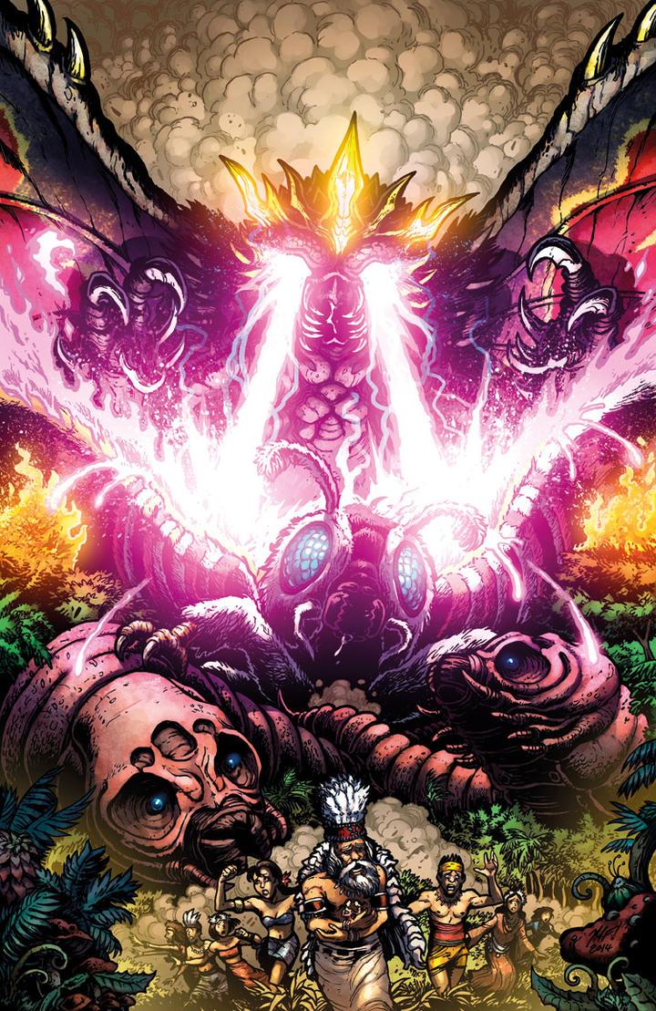 Godzilla Rulers of Earth #18 cover by KaijuSamurai