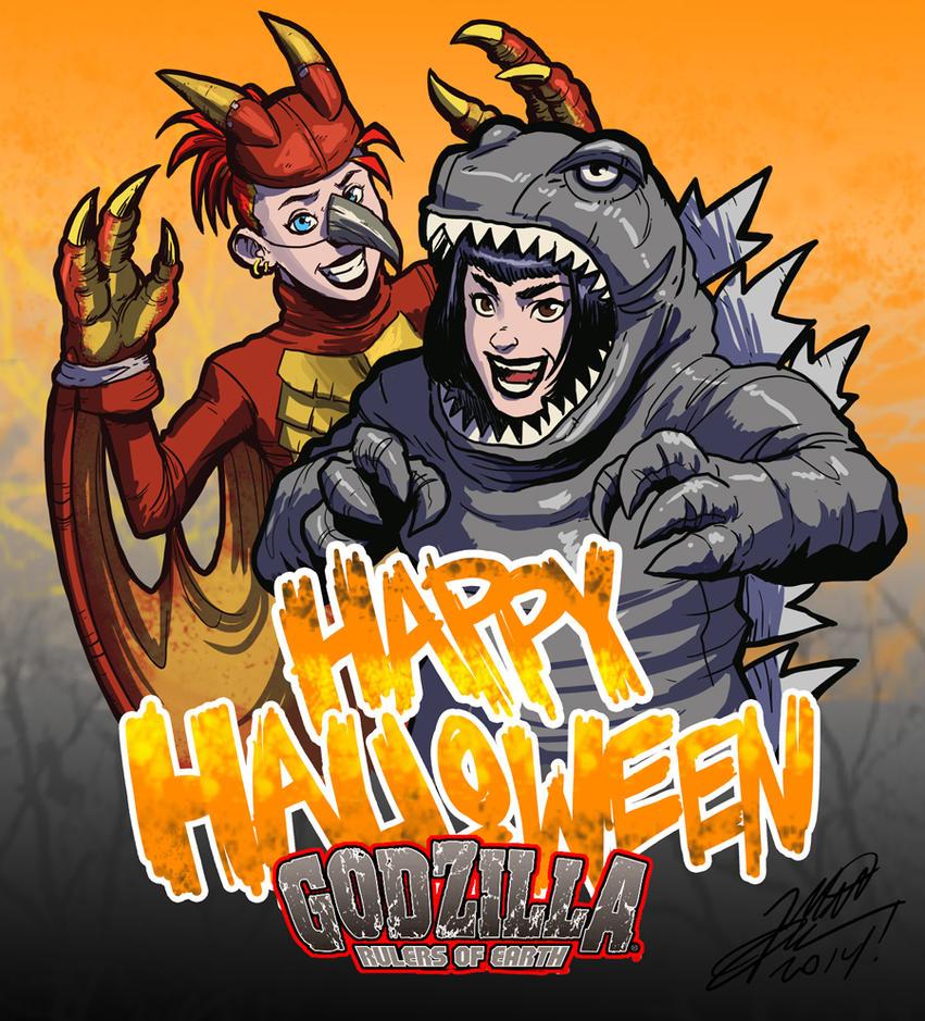 Happy Halloween from Godzilla Rulers of Earth by KaijuSamurai