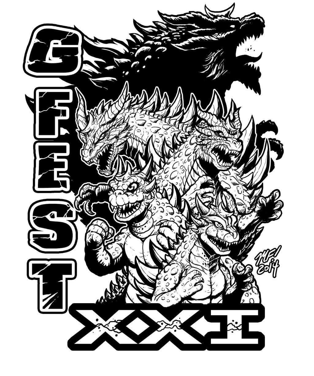 T shirt poster design -  Gfest Xxi Shirt Poster Design By Kaijusamurai