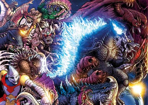 Godzilla Rulers of Earth #25 wraparound cover