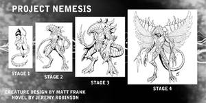 Project Nemesis Creature Design by KaijuSamurai