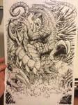 Godzilla vs. Nemesis line art