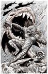 Creature From the Black Lagoon Monsterama print