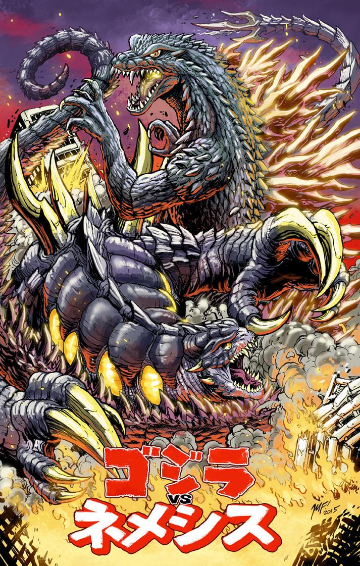 godzilla vs nemesis special print by kaijusamurai - Godzilla Pictures To Print