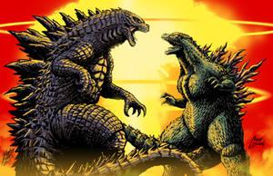 Godzilla vs Godzilla by Matt Frank and MASH