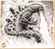 Godzilla 1954 sketch by KaijuSamurai