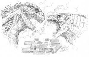 Godzilla 2016 vs Godzilla 2014 by KaijuSamurai