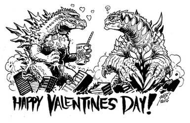 Happy Valentines Day 2016! by KaijuSamurai
