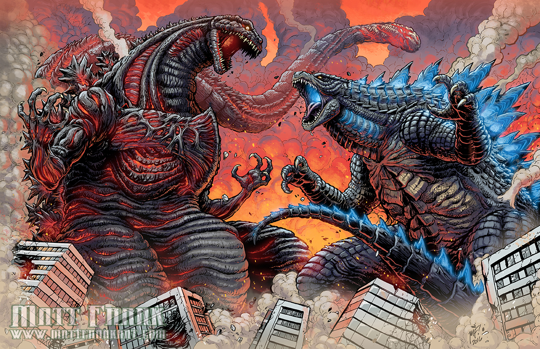 Shin Gojira vs Legendary Godzilla by KaijuSamurai on DeviantArt