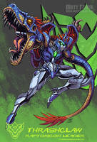 Raptoricons - Thrashclaw robot mode