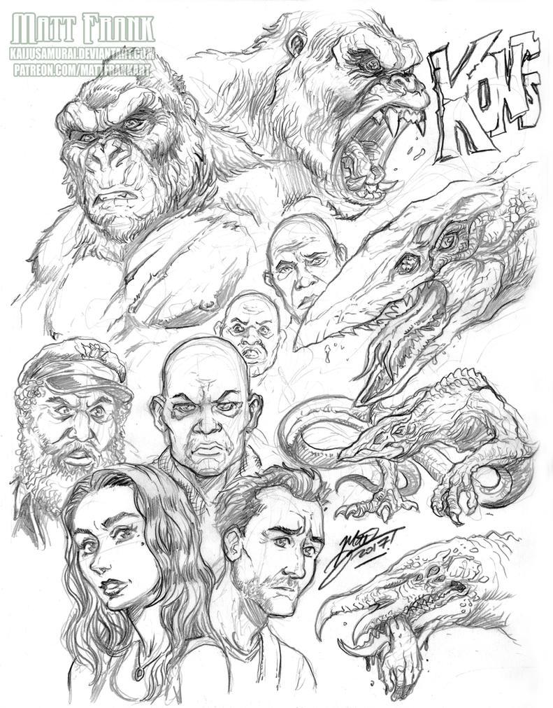 Kong Sketches by KaijuSamurai