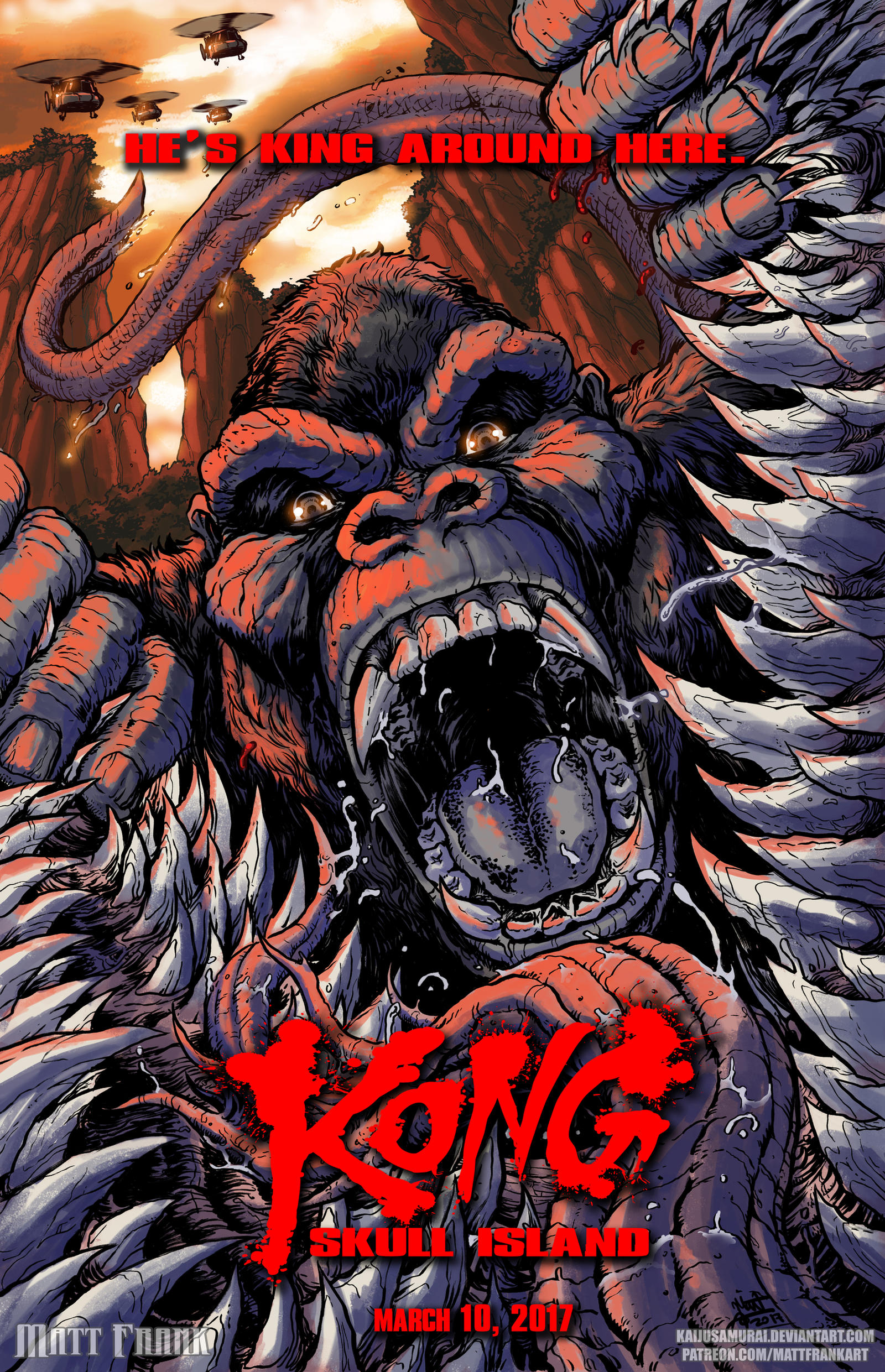 Kong Skull Island Poster by KaijuSamurai