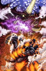 Godzilla Night 6 Poster  - clean by KaijuSamurai