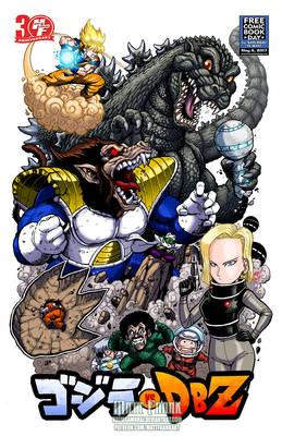 Godzilla vs Dragonball Z FCBD version