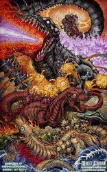 Shin Beasts - Shin Godzilla print by KaijuSamurai