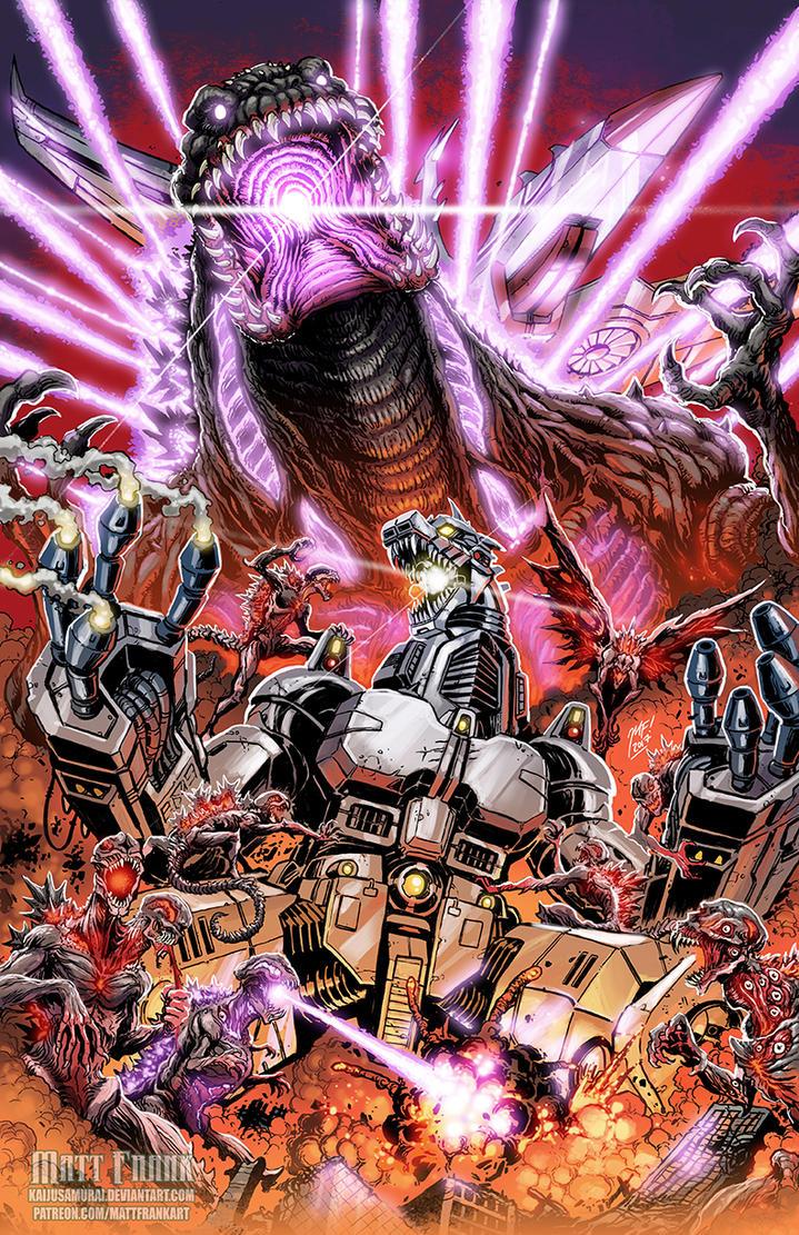 shin godzilla vs mechagodzilla g fest print by kaijusamurai - Godzilla Pictures To Print