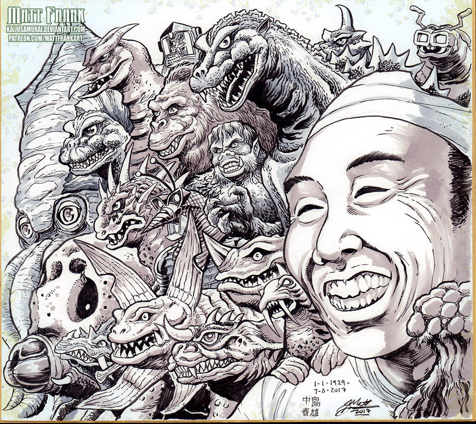 Godzilla's Big Green Burning Thread - Page 5 Haruo_nakajima_tribute_by_kaijusamurai-dbj9b0f