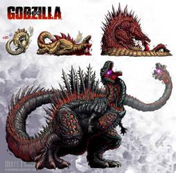 Godzilla Neo - SHIN GODZILLA by KaijuSamurai