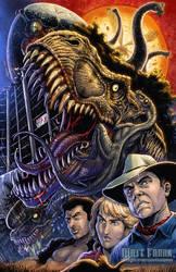 Jurassic Park 25th Anniversary print by KaijuSamurai