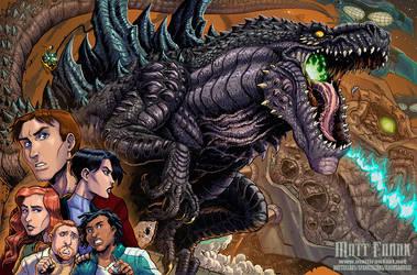 Godzilla The Series print for G-Fest XXV by KaijuSamurai