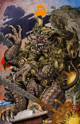 Godzilla Rulers of Earth Vol 5 Okinawa Cover clean by KaijuSamurai
