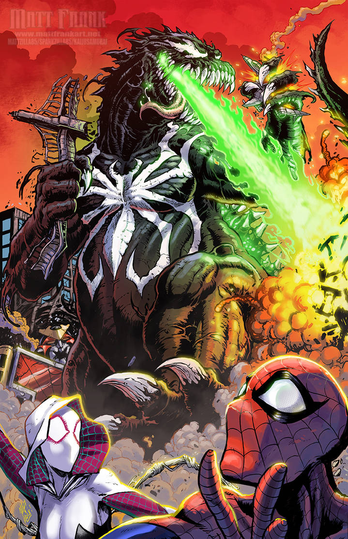 Marvel's Godzilla -VENOMIZED by KaijuSamurai