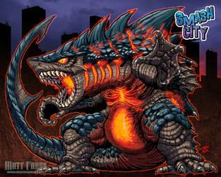 Smash City - MAGMALODON! by KaijuSamurai