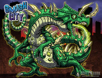 Smash City - TOXIGUANA! by KaijuSamurai