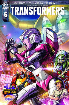 TRANSFORMERS #6 Greater Austin Comic Con Cover