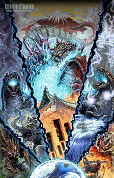 Godzilla Rage Across Time Japanese Cover