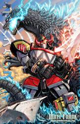 GODZILLA VS MEGAZORD by KaijuSamurai