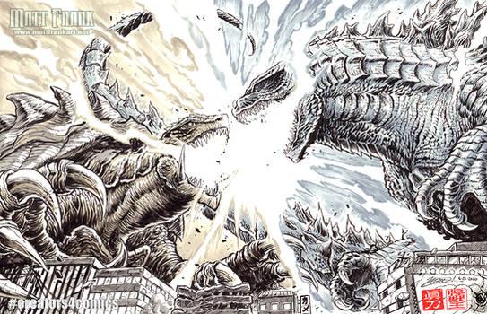 Godzilla vs Gamera - Creators4Comics