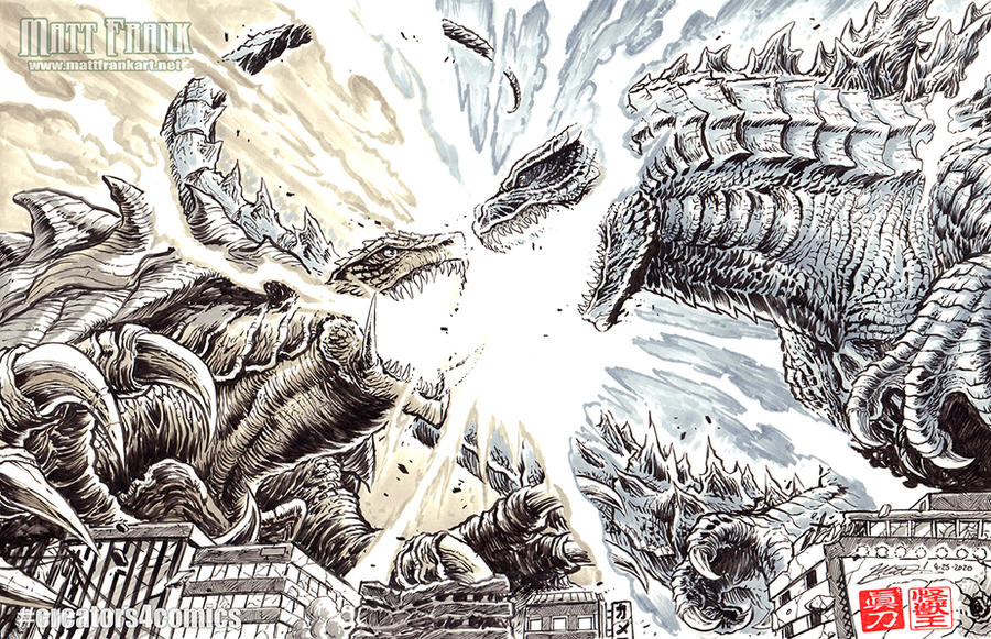 Godzilla vs Gamera - Creators4Comics