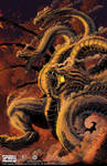 The Death of Ghidorah print for Spiral Studio